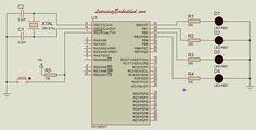 Led circuit pic16f877