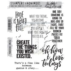 RESERVE Tim Holtz Cling Rubber Stamps 2016 PONDERINGS CMS252 at Simon Says STAMP!