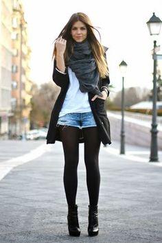 outfit con medias y short