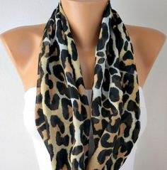 Leopard Scarf  Infinity Scarf Shawl Circle Scarf Loop by fatwoman, $17.00