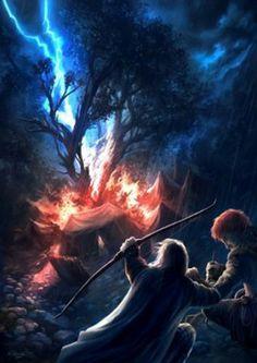 Flame, thunder, broken tree / Llama, trueno, árbol partido