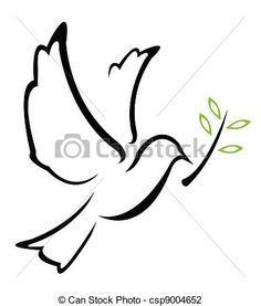 Vector Illustration of Dove Peace Vector csp9004652 - Search ...