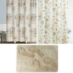 Shower Curtain Coastal Bath Rug Combo Ideas