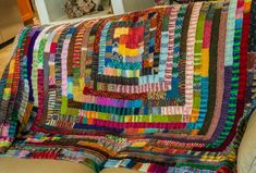 Incredible blanket by Mary Beal - Frankie Brown's pattern for the Elizabeth Zimmermann-inspired Ten Stitch Blanket by mixing of sock yarns