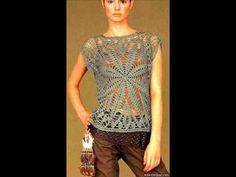 how to crochet summer top tunic free pattern - YouTube