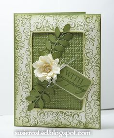 white flower card--simple and beautiful