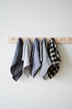 Linen kitchen tea towels | Reusable cloth napkins | Zero waste kitchen essential