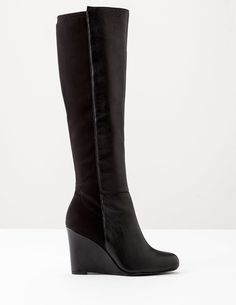 Boden Kensington Wedge Boot Black Women Boden, Black Why choose between style and comfort? Our new wedge boot has both in equal measure with its leather front and stretch back. http://www.MightGet.com/january-2017-13/boden-kensington-wedge-boot-black-women-boden-black.asp