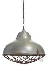 Kalalou Rustic Cage Metal Pendant Lamp