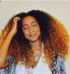 Innovative Ombre Curly Hair Rock or Pass for Long Hair