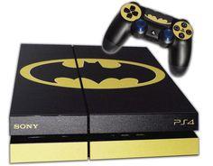 PS4 Skin EXCLUSIVE Original BATMAN Logo with 2 Controller Skins Playstation 4