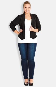 City Chic Bow Pocket Jacket (Plus Size) available at #Nordstrom
