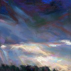 """JUNE GLOOM - 4 1/2"""" x 4 1/2"""" pastel by Susan E. Roden©, http://susanroden.blogspot.com"""