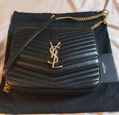 YSL SAINT LAURENT SULPICE COLLEGE SHOULDER BAG MATELASSE LEATHER BLK Chain  Shoulder Bag 127804662ad