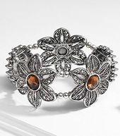 Amber Flowers Sliders Bracelet made with Bliss Beads from @joannstores