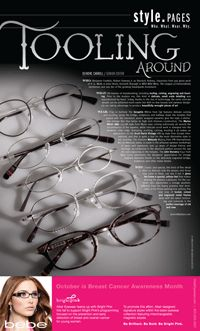 c2c501dcbd1 VisionMonday   TOOLING AROUND Featuring the Seraphin Milton frame (pictured  top) from  OGI Eyewear