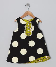 Take a look at this Green & Black Reversible Tux Dress - Infant, Toddler & Girls by Right Bank Babies on #zulily today!