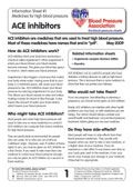 Print-ready ACE inhibitors information sheet