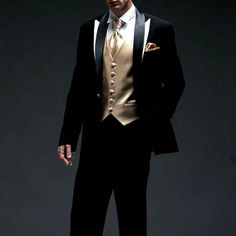 black and gold prom tux | SKU-123135