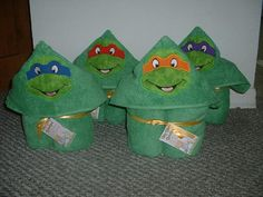 Cute Green Turtle Guy TMNT Hooded Bath by IttyBittyBoutique201, $30.00