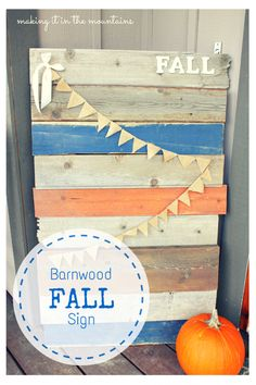Barnwood FALL Sign :