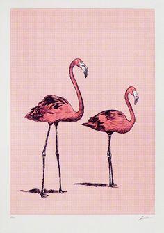 Pink Flamingoes BY JAMES NIELSEN