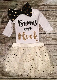 Brows on Fleek Onesie Baby Girl Brows on Fleek by BellaPiccoli