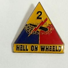 6TH US ARMORED ARMOURED DIVISION CREST DI PIN WW2 PATTERN