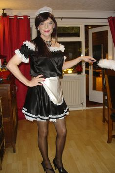 Here is a nice little sissy maid!