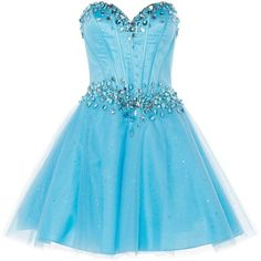 ANOUSHKA G Zoe corset style prom dress ($120) ❤ liked on Polyvore featuring dresses, vestidos, blue, robe, short dresses, clearance, metallic, strapless prom dresses, short prom dresses and short mini skirts