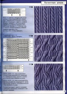 Ludwig& Chest: Writings - puntos con dos agujas l Cable Knitting Patterns, Knitting Stiches, Knitting Charts, Lace Knitting, Knitting Designs, Knit Patterns, Knitting Projects, Crochet Stitches, Stitch Patterns
