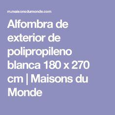 Alfombra de exterior de polipropileno blanca 180 x 270 cm | Maisons du Monde