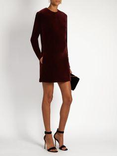 Racil Ara cotton-blend velvet dress