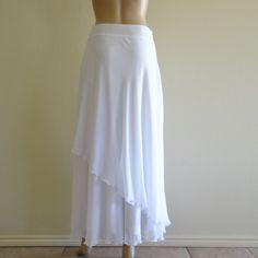 White Long Skirt. Maxi Skirt by lisaclothing on Etsy, $33.99