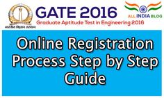 GATE 2016 Online Registration Process Step by Step Guide With Screenshot's, how to apply for gate 2016 exams through online, gate 2016 online registration guide