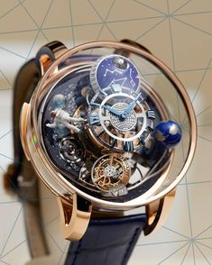 A glance at the Astronomia Maestro is a glance into a parallel universe of ultra. Fancy Watches, Expensive Watches, Luxury Watches For Men, Cool Watches, Pocket Watches, Men's Watches, Richard Mille, Patek Philippe, Rolex