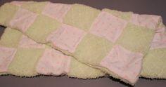 Shabby chic plush baby quilt by MotherLark on Etsy, $45.00
