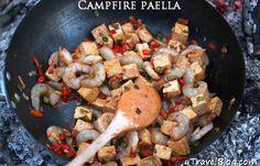 Camping Dinner Ideas | Campfire Paella #survivallife www.survivallife.com