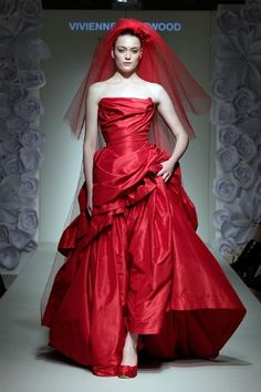 Vivenne Westwood Bridal Gown. I'm obsessed with idea of red color for the wedding gown!