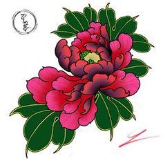 #tattoonhatrang #tiinker #flowerssketch #japanese #tattoocolor #peonytattoo #colortattoo Japanese Flower Tattoo, Japanese Tattoo Designs, Japanese Flowers, Flower Tattoo Designs, Flower Tattoos, Flower Designs, Sugar Skull Tattoos, Dog Tattoos, Mini Tattoos