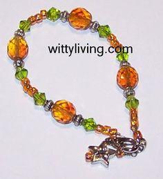 Autumn Crystals Beaded Bracelet