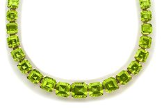 Fancy-cut peridot and gold necklace. Dolce & Gabbana