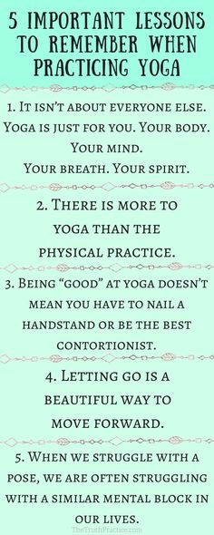 CLICK THE PIN TO READ THE 10 important lessons you should know before practicing yoga as a beginner! Yoga has become mainstream, but is that a good thing? Have we forgotten the essence of the practice? If you've gotten too caught up in the clothes, trends, and Instagram pictures, read this to help you find your internal compass! Check out The Truth Practice to read about inspiration, authenticity, happy living, manifestation, getting rid of fear, intuition, self-love, self-care, & mantras.