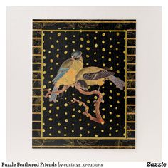 Shop Puzzle Feathered Friends created by caristys_creations. Front Entry Decor, Hallway Art, Dramatic Arts, Gold Art, French Country Decorating, Living Room Art, Eclectic Decor, Custom Posters, Art For Sale