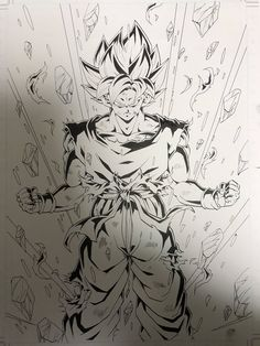 Dragon ball z goku fan art Dragon Ball Gt, Ball Drawing, Goku Drawing, Z Tattoo, One Piece Drawing, Dragon Images, Z Arts, Tattoo Studio