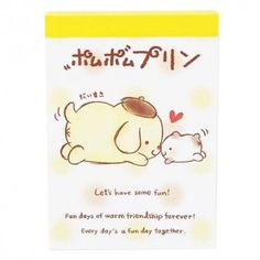 Sanrio Pompom Purin Buddy Mini Memo Pad (◕ᴥ◕) Kawaii Panda - Making Life Cuter