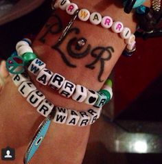 Lady Casa's P.L.U.R. Tattoo. Peace, Love, Unity, Respect <3 EDM World Magazine Tattoo Pick -  Check out www.edmworldmagazine.com for the latest issue ! #edmlife #tattoo #music #edm #plurwarrior