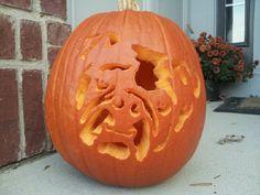 Bulldog Pumpkin during the day