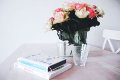 Roses and books home decoration
