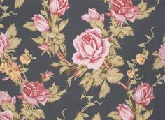Rustic Blush by Verna Mosquera for FreeSpirit Fabrics. I love the deep grey background in this one!